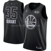 Golden State Warriors Kevin Durant 35# Svart 2018 All Star Game NBA Basketlinne..